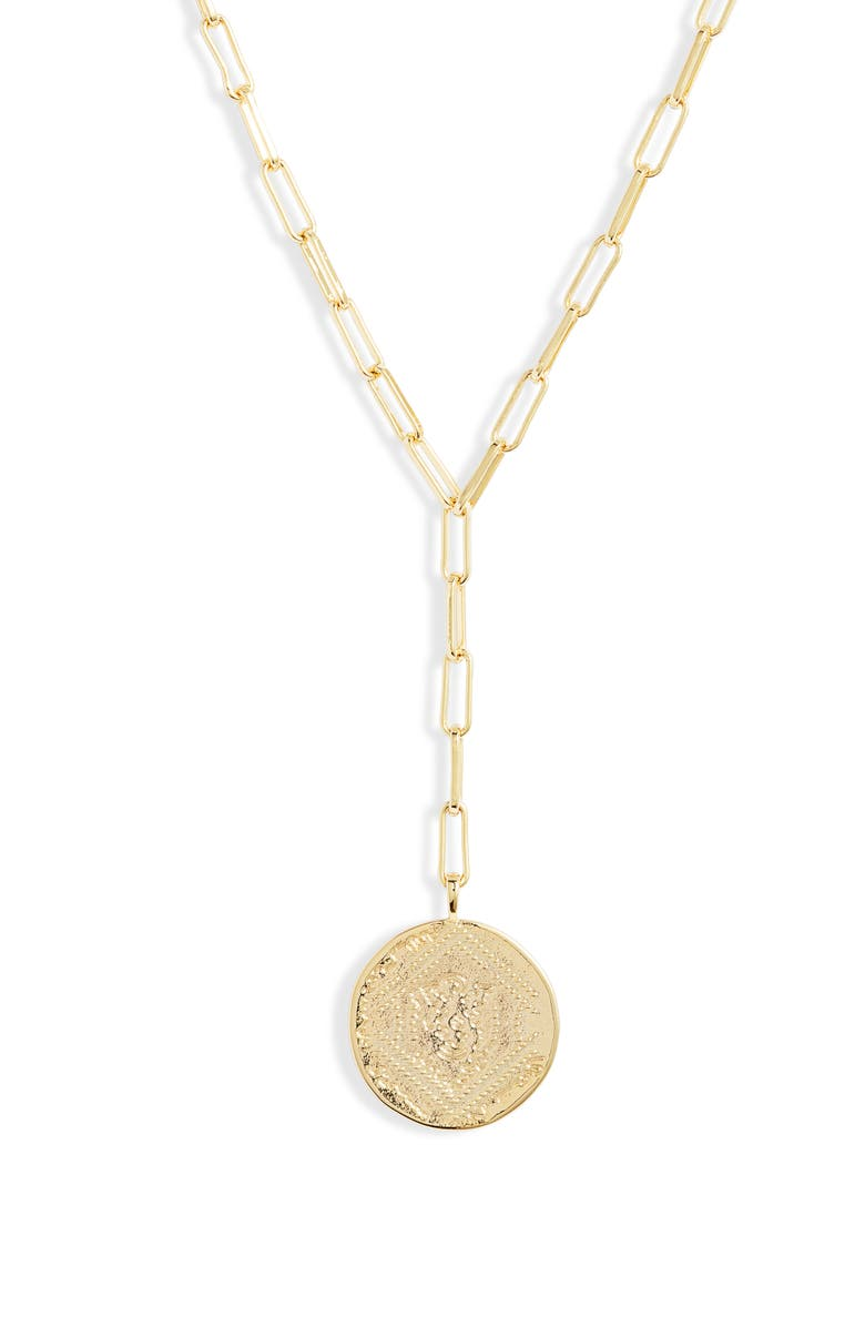 GORJANA Ana Coin Y-Necklace, Main, color, GOLD