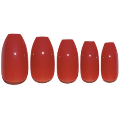Static Nails Spiked Coral Pop-On Reusable Manicure Set - Spiked Coral