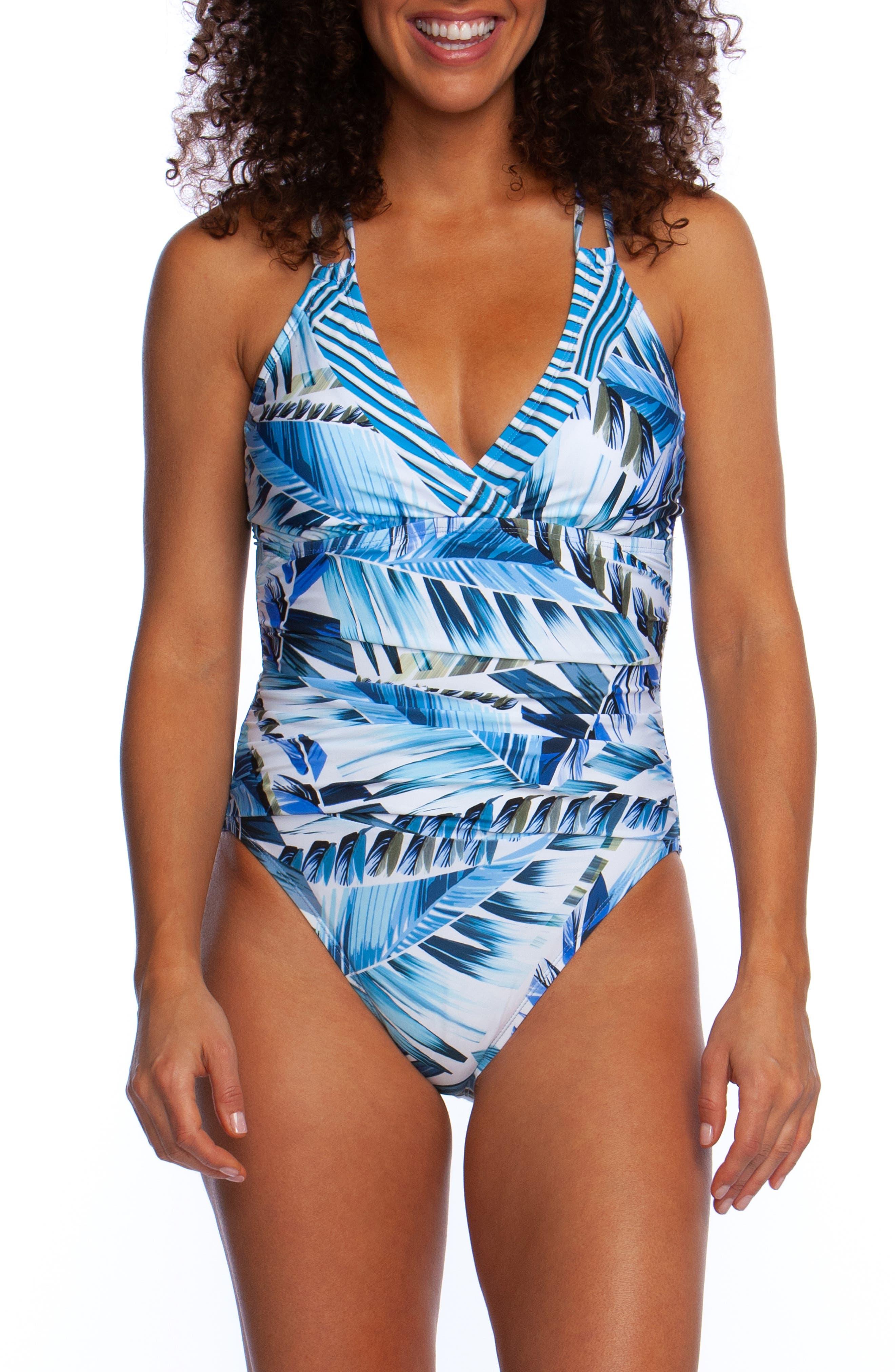 Plus Size La Blanca Two Cool Underwire One-Piece Swimsuit, Blue