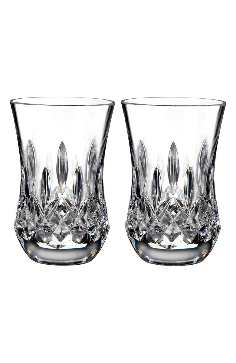 WATERFORD 'Lismore' Lead Crystal Flared Sipping Tumblers, Main, color, 100
