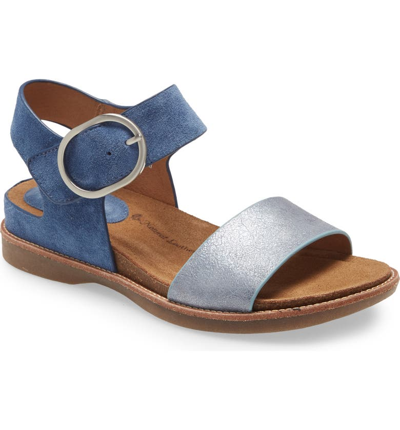 SÖFFT Bali Sandal, Main, color, FRENCH BLUE SUEDE