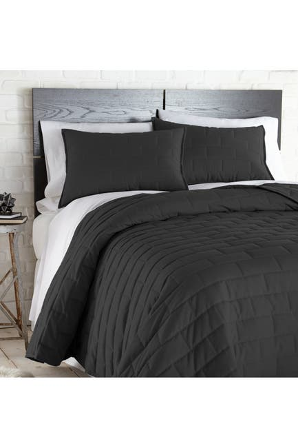 Image of SOUTHSHORE FINE LINENS Full/Queen Premium Collection Quilt Sets - Black