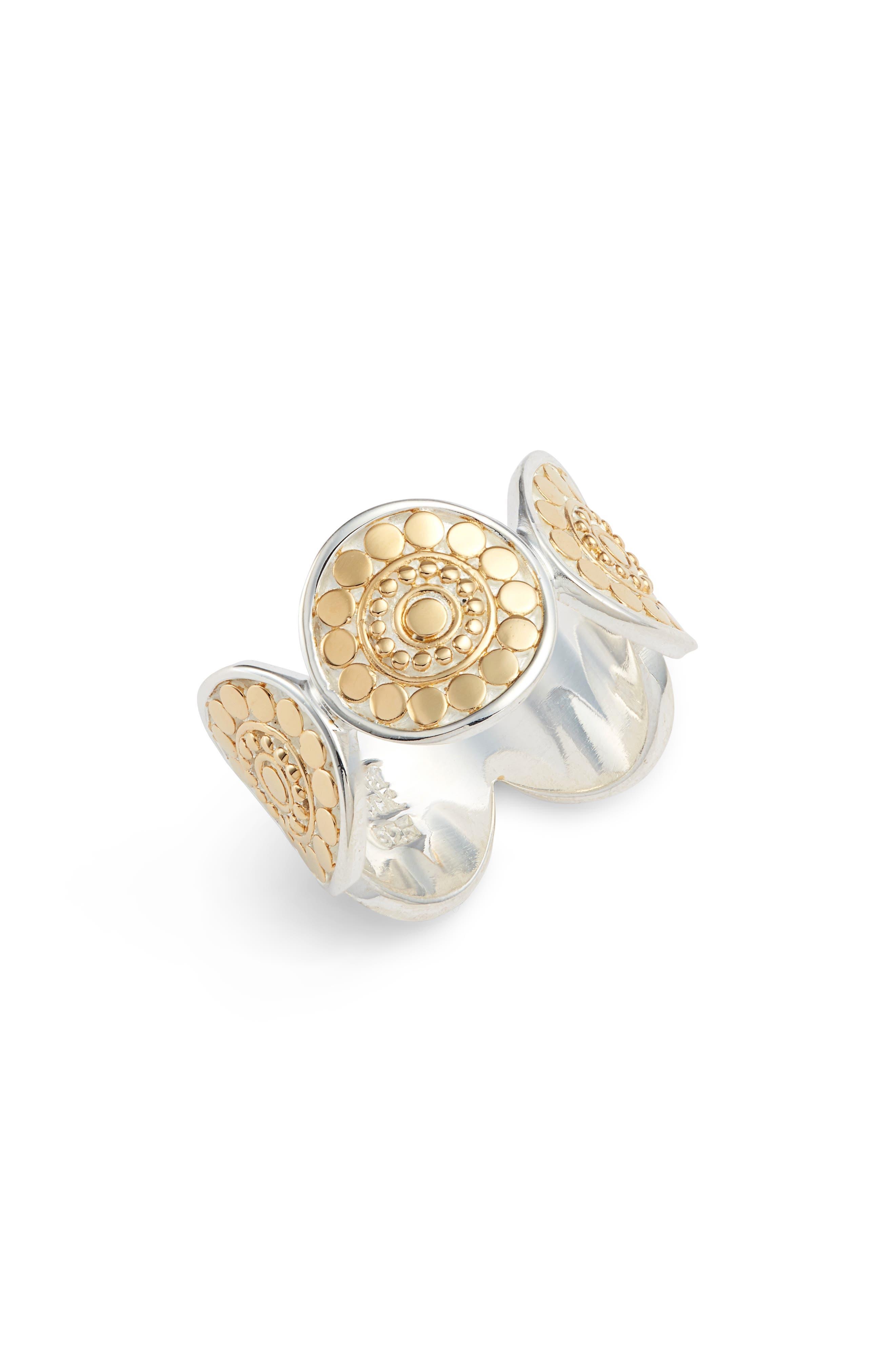 Beaded Multi Circle Band Ring