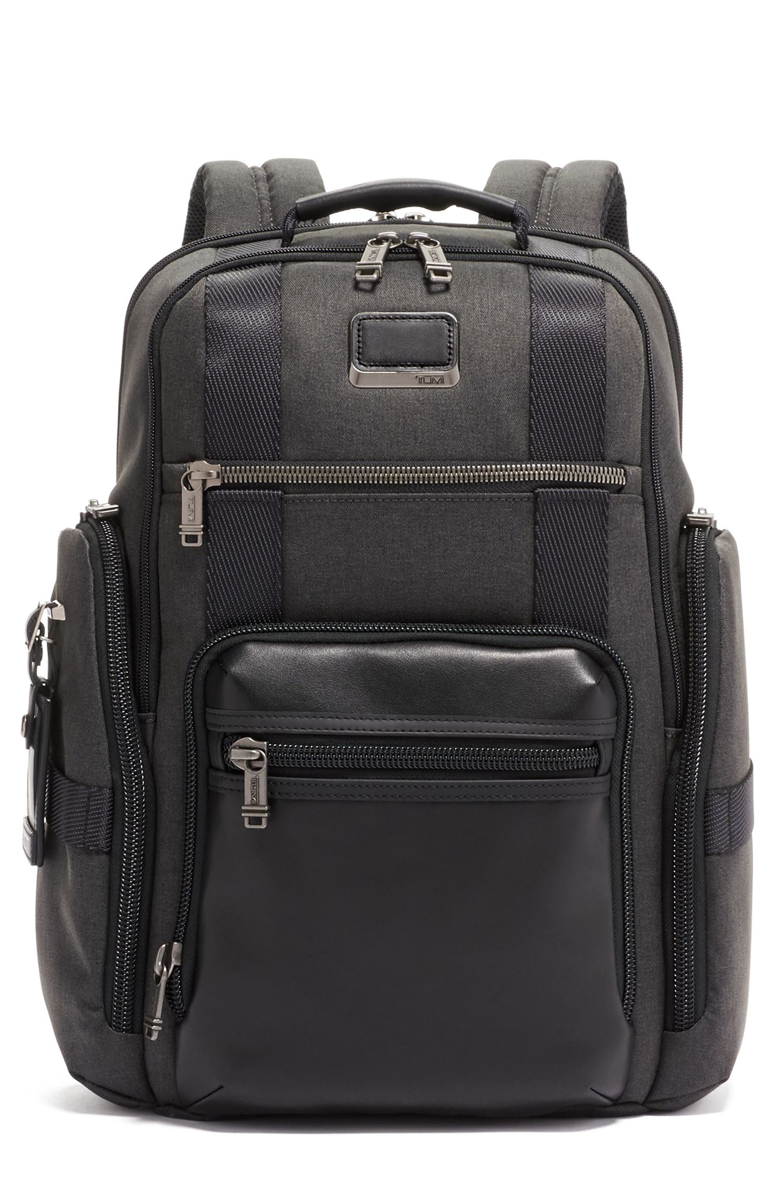 Men's Tumi Alpha Bravo Sheppard Deluxe Water Resistant 15-Inch Backpack - Grey