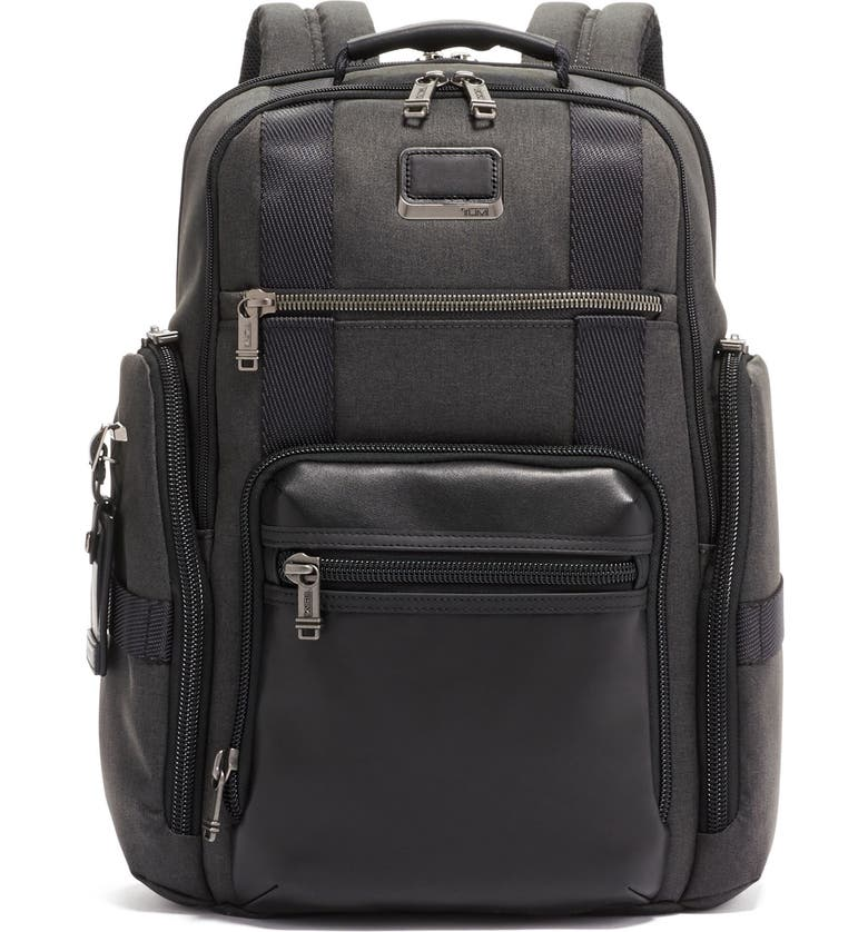 TUMI Alpha Bravo Sheppard Deluxe Water Resistant 15-Inch Backpack, Main, color, GRAPHITE