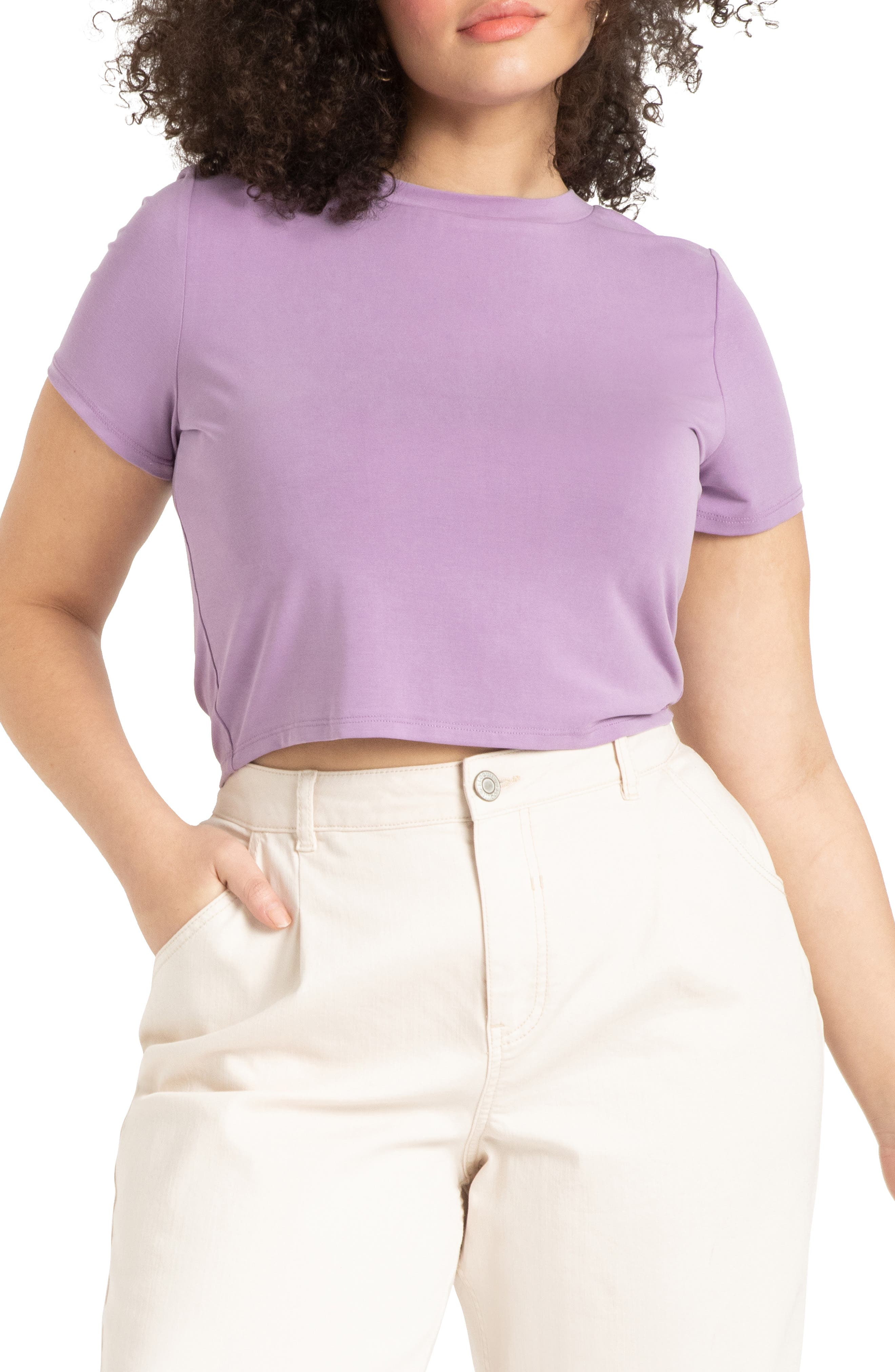Crop Short Sleeve T-Shirt