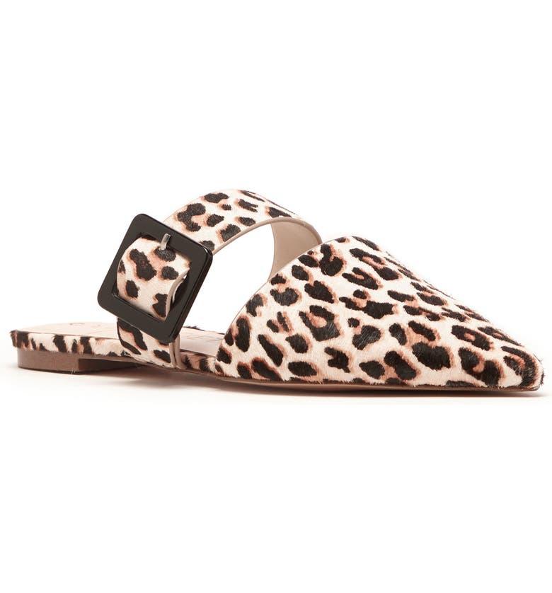 SOLE SOCIETY Tanitha Pointed Toe Genuine Calf Hair Mule, Main, color, BEIGE CALF HAIR