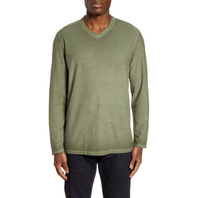 Tommy Bahama Cirrus Coast Classic Fit Long Sleeve V-Neck T-Shirt, Green