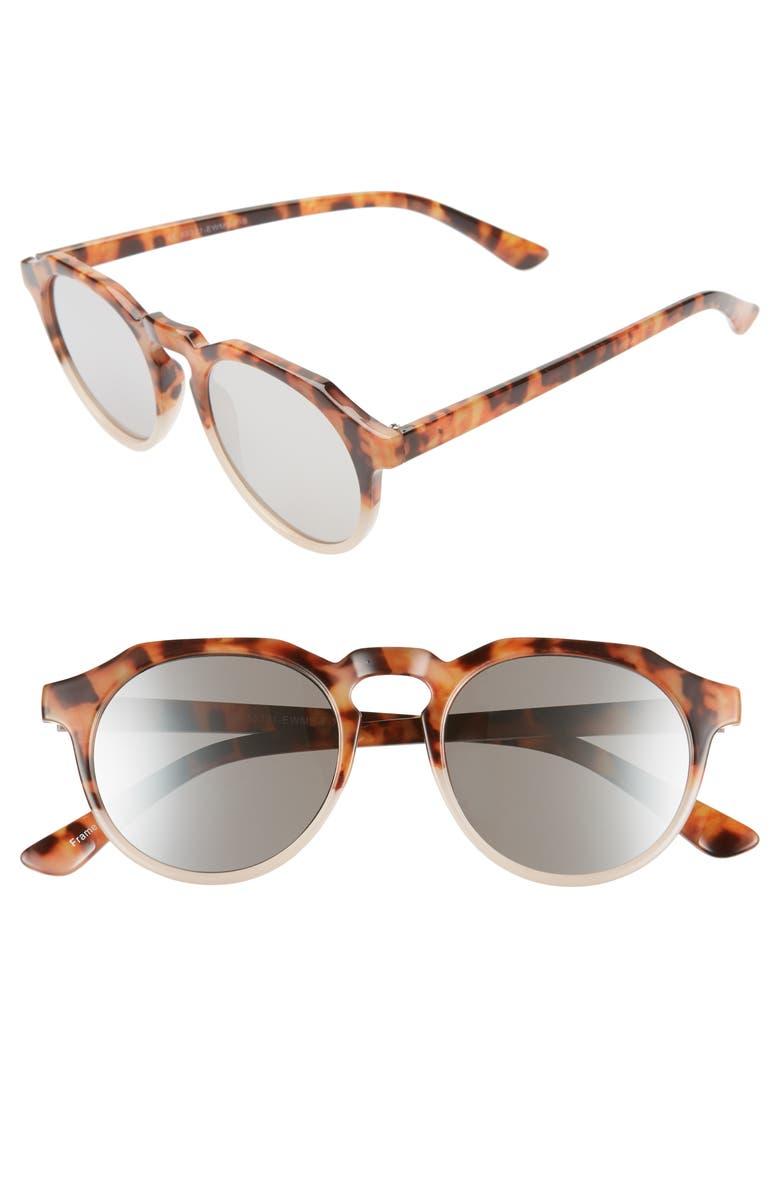 BP. 49mm Round Sunglasses, Main, color, 200