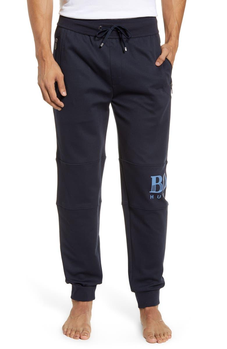 BOSS Track Pants, Main, color, NAVY