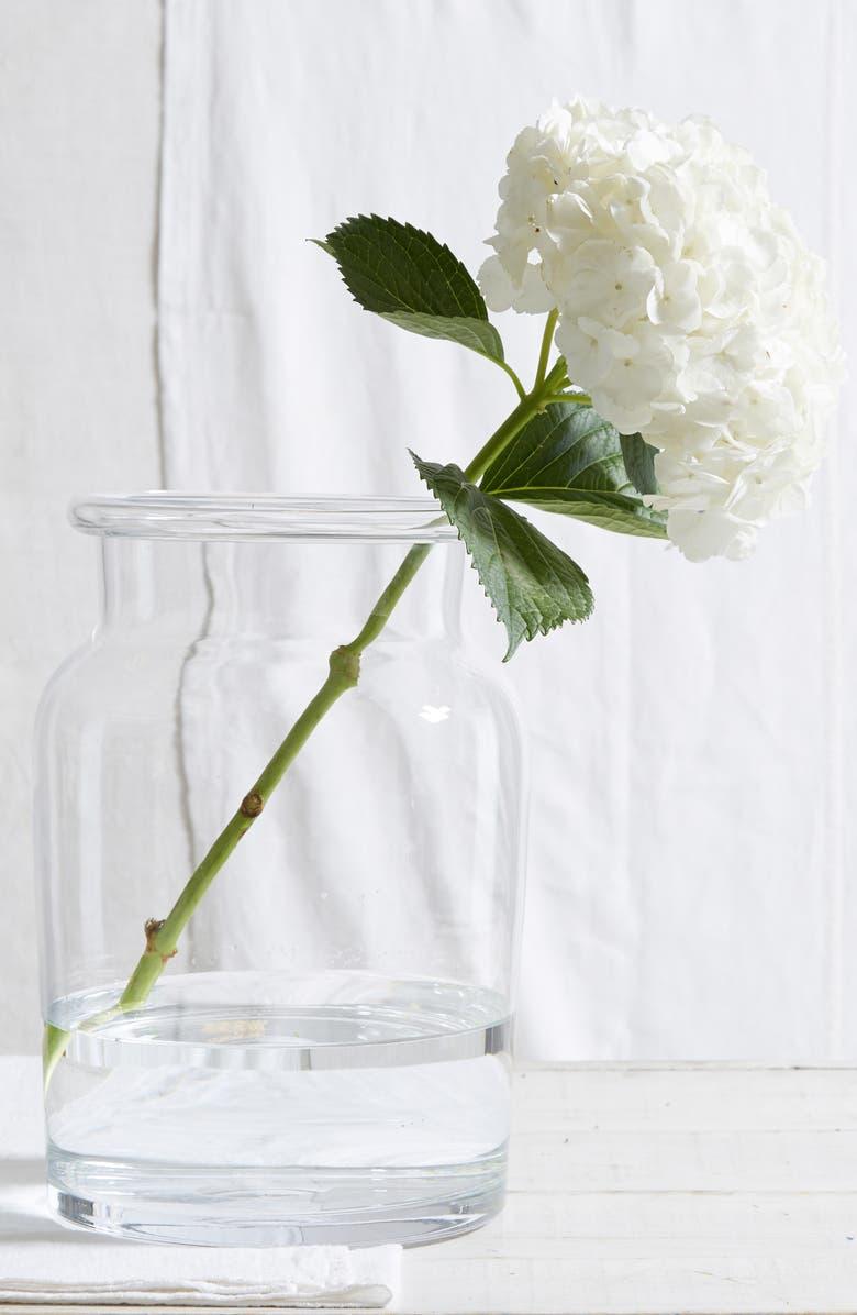 THE WHITE COMPANY Ultimate Aurelie Glass Vase, Main, color, 100