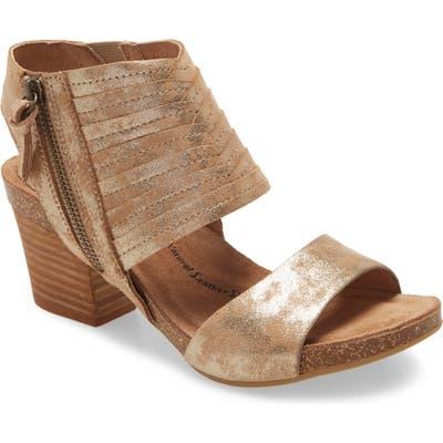 Sofft Milan Ii Block Heel Sandal, Metallic