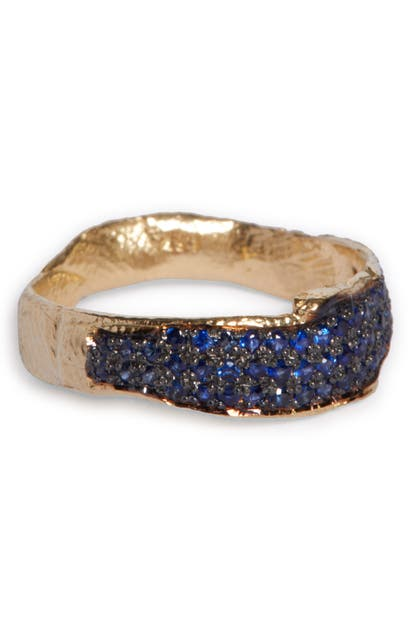 Alice Waese NORMA BLUE SAPPHIRE PAVE RING