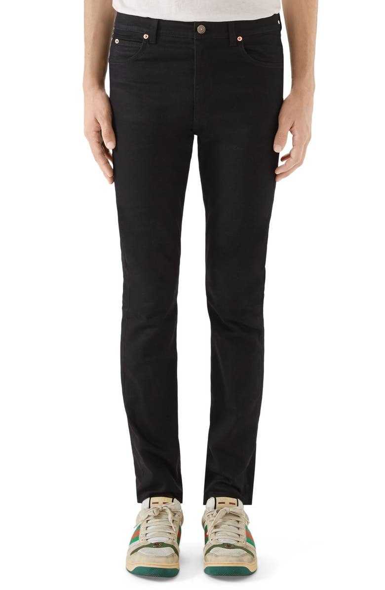 GUCCI Skinny Fit Jeans, Main, color, 001