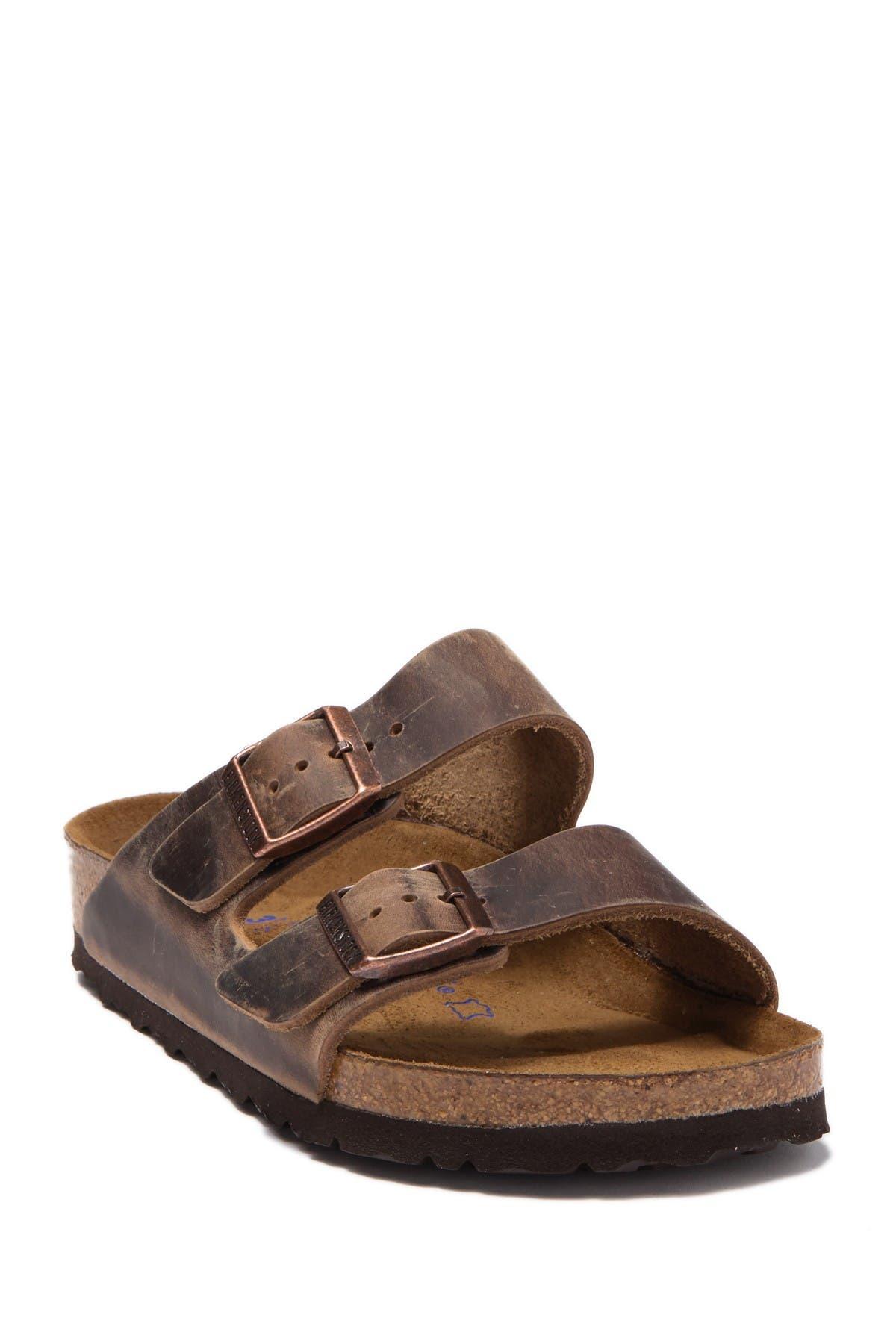 Arizona Oiled Leather Slide Sandal