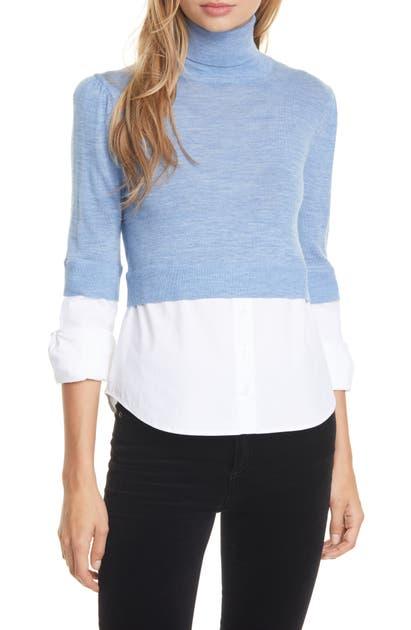 Veronica Beard Sweaters NINA MIXED MEDIA SWEATER