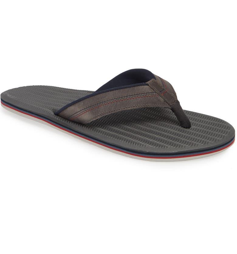 HARI MARI Brazos LX Flip Flop, Main, color, CHARCOAL