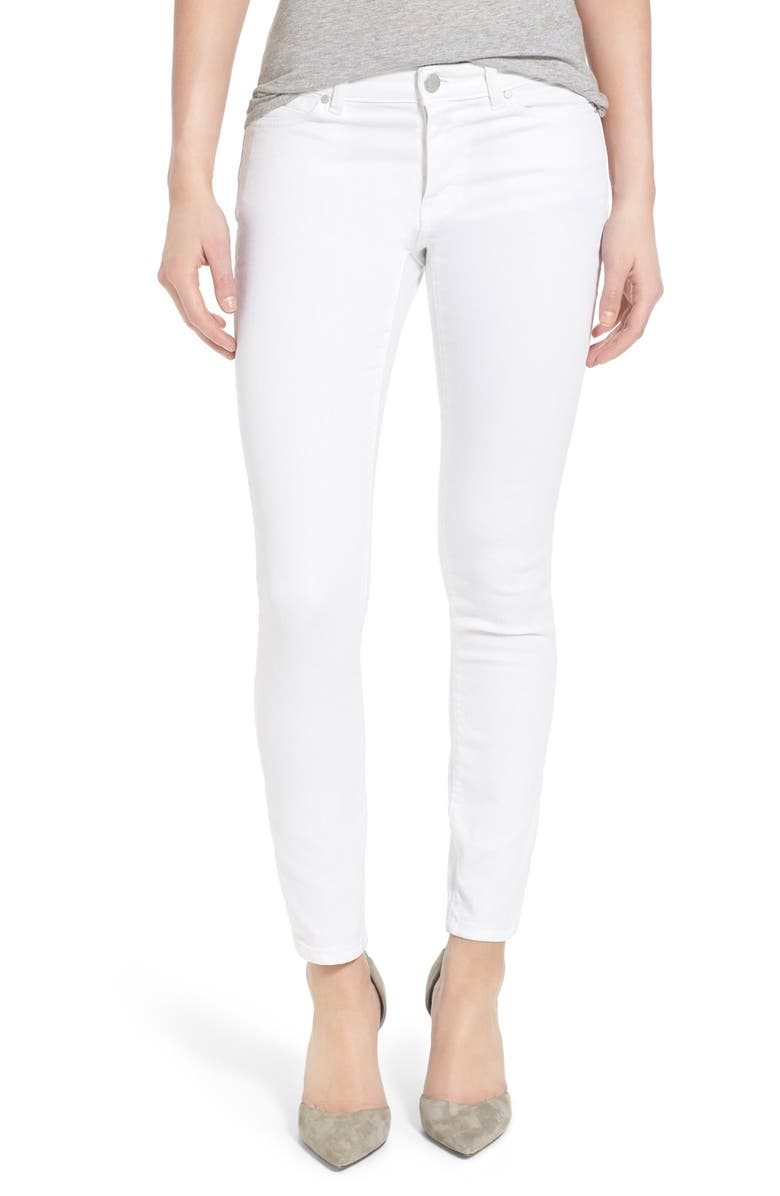 CASLON<SUP>®</SUP> Stretch Ankle Skinny Jeans, Main, color, 100