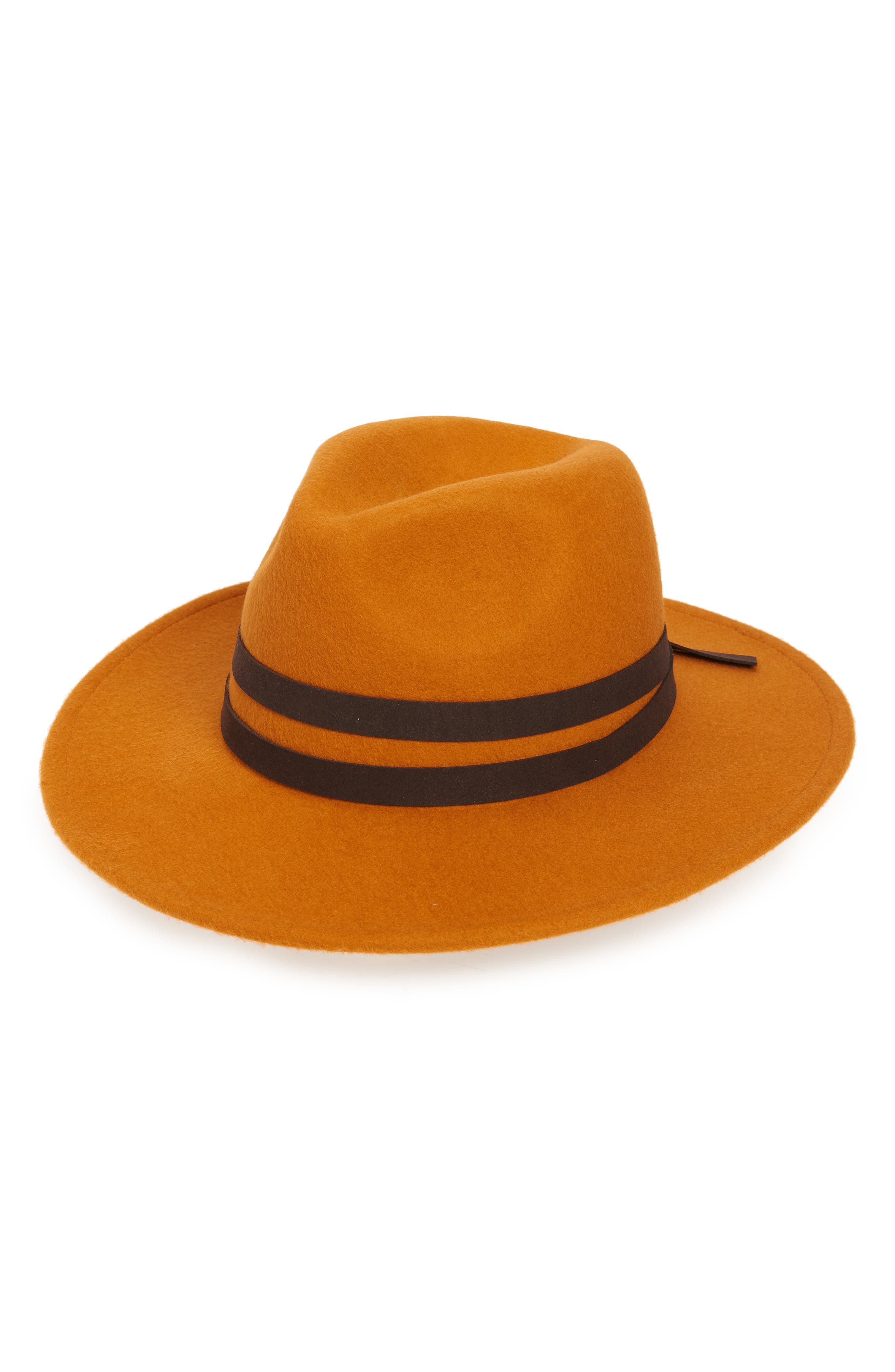 A contrast band is tied at the crown of a fashionable fedora crafted from felted wool. When you buy Treasure & Bond, Nordstrom will donate 2.5% of net sales to organizations that work to empower youth. Style Name: Treasure & Bond Western Felted Wool Fedora. Style Number: 5812111. Available in stores.