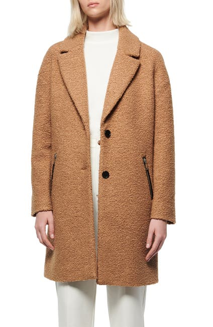 Image of Andrew Marc Faux Shearling Car Coat