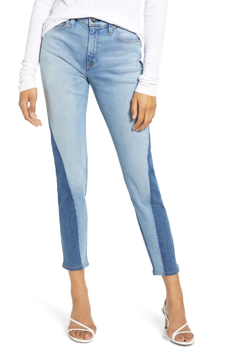 HUDSON JEANS Barbara High Waist Ankle Skinny Jeans, Main, color, WHISPER