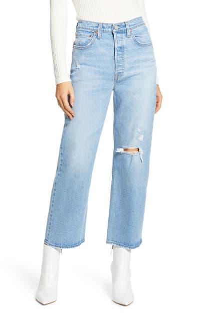 Levi's Jeans RIBCAGE HIGH WAIST STRAIGHT LEG ANKLE JEANS