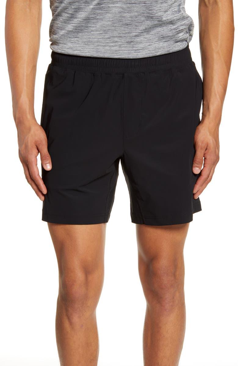 RHONE Versatility Performance Athletic Shorts, Main, color, BLACK