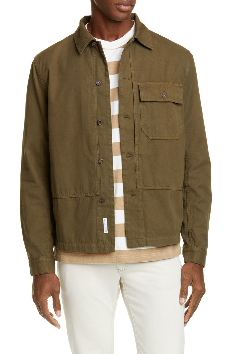 CLOSED Button-Up Army Shirt, Main, color, DEEP KHAKI