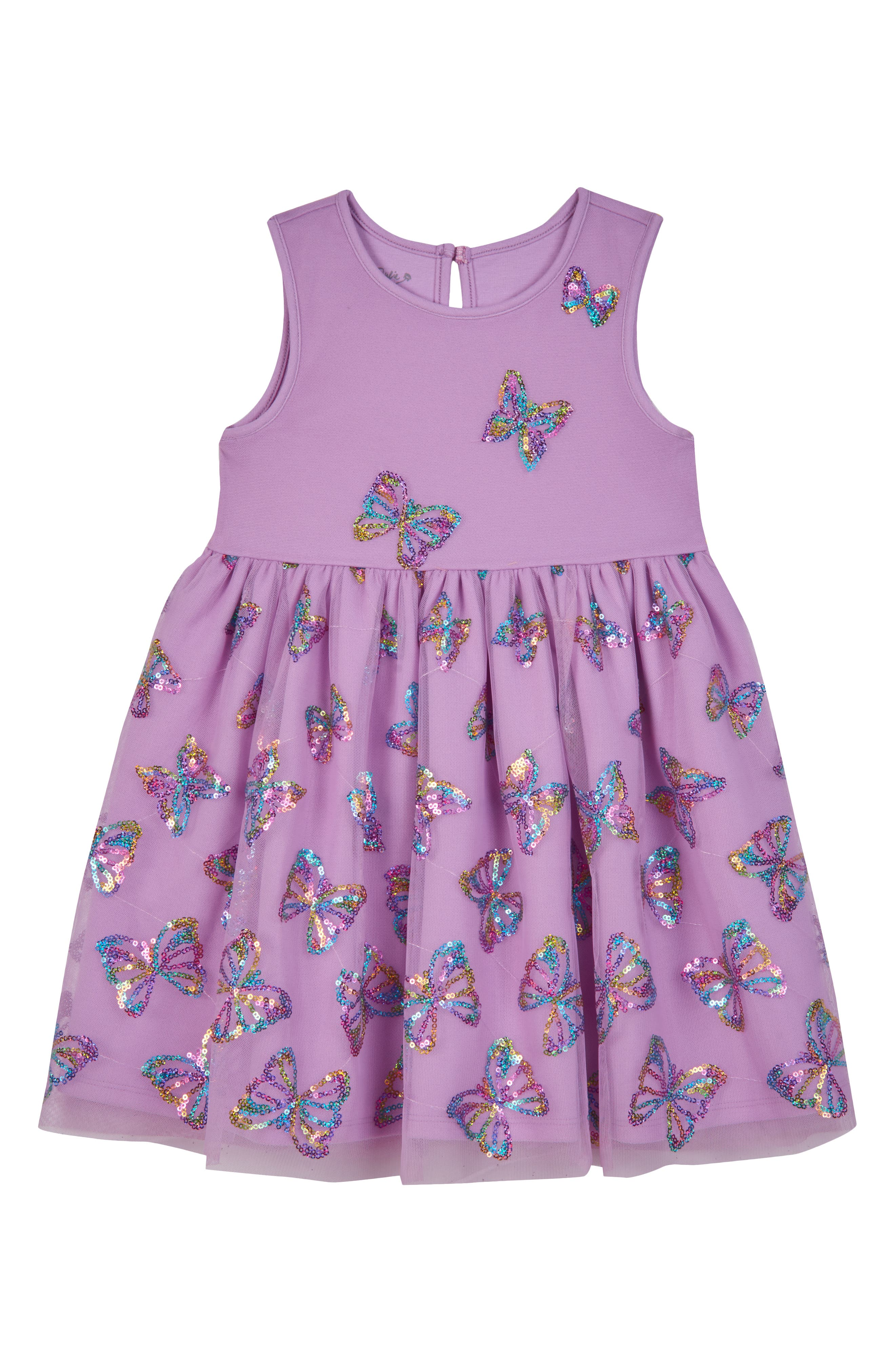 Image of Pippa & Julie Sequin Butterfly Tank Dress