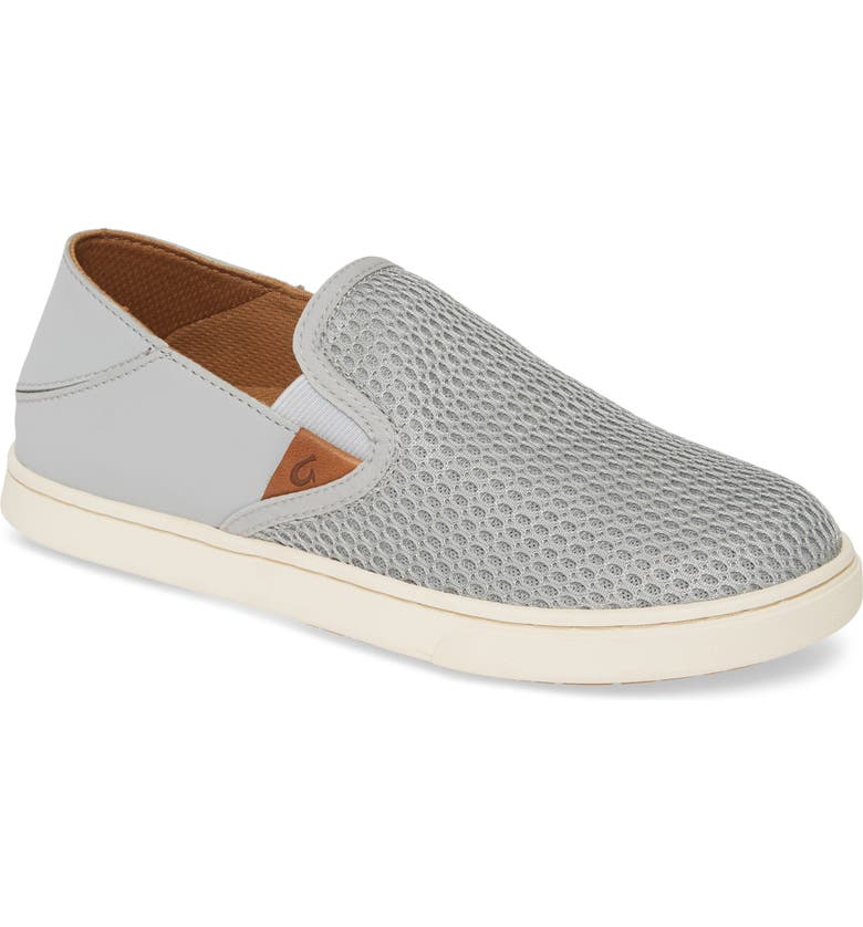 OLUKAI 'Pehuea' Slip-On Sneaker, Main, color, PALE GREY/GREY FABRIC