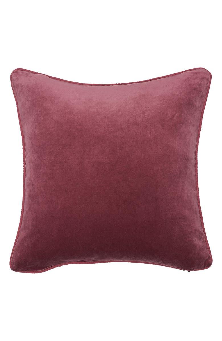 EADIE LIFESTYLE Lynette Velvet Scatter Accent Pillow, Main, color, DUSTY MAUVE