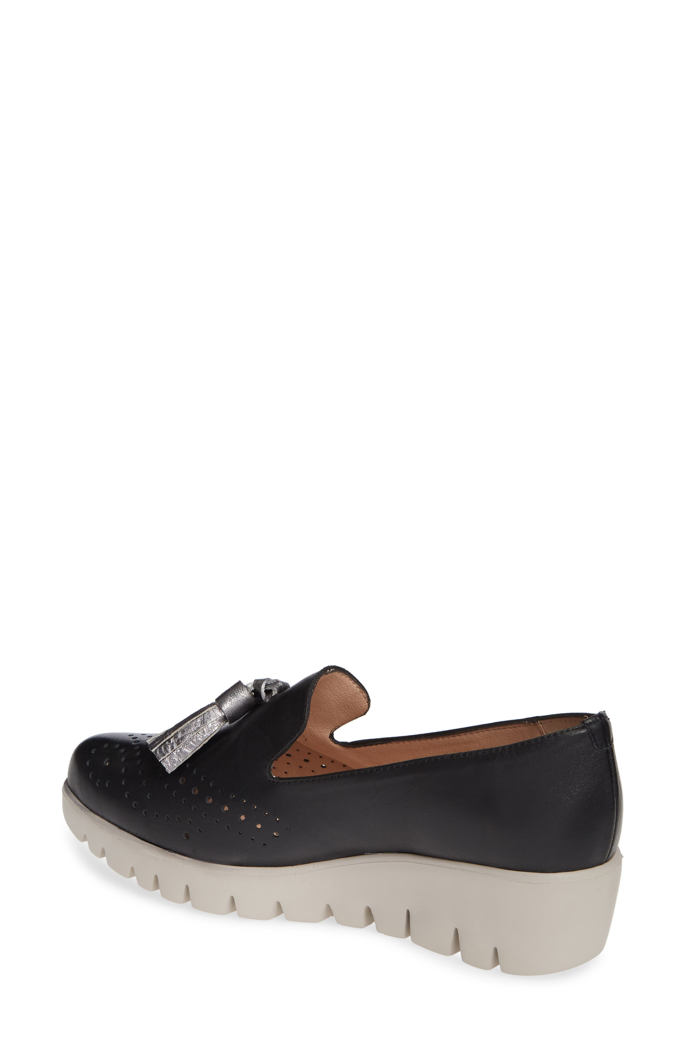 ,                             C-3366 Loafer Wedge,                             Alternate thumbnail 2, color,                             NEGRO/ PLOMO LEATHER