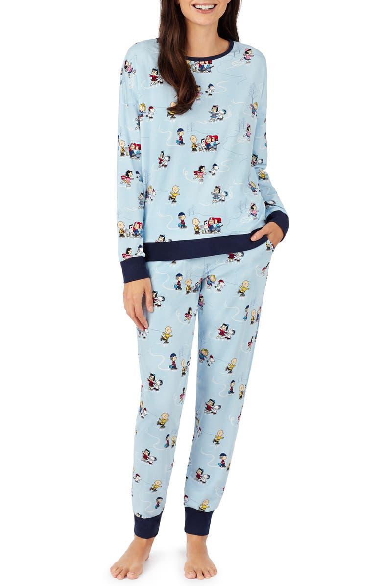 BEDHEAD PAJAMAS Peanuts<sup>®</sup> on Ice Jogger Pajamas, Main, color, 400