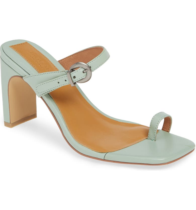 JAGGAR Strappy Slide Sandal, Main, color, MINT LEATHER