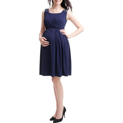Kimi And Kai Tegan Maternity/nursing Skater Dress