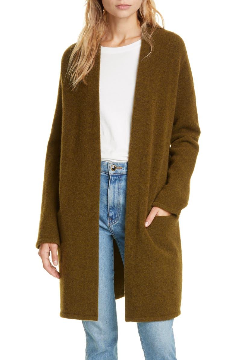 JENNI KAYNE Wool Blend Sweater Coat, Main, color, OLIVE