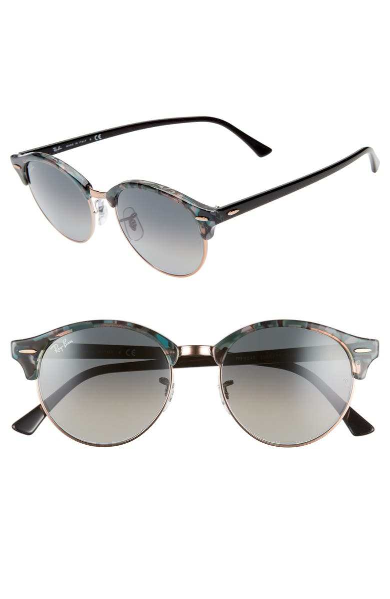 RAY-BAN Clubround 51mm Round Sunglasses, Main, color, 004