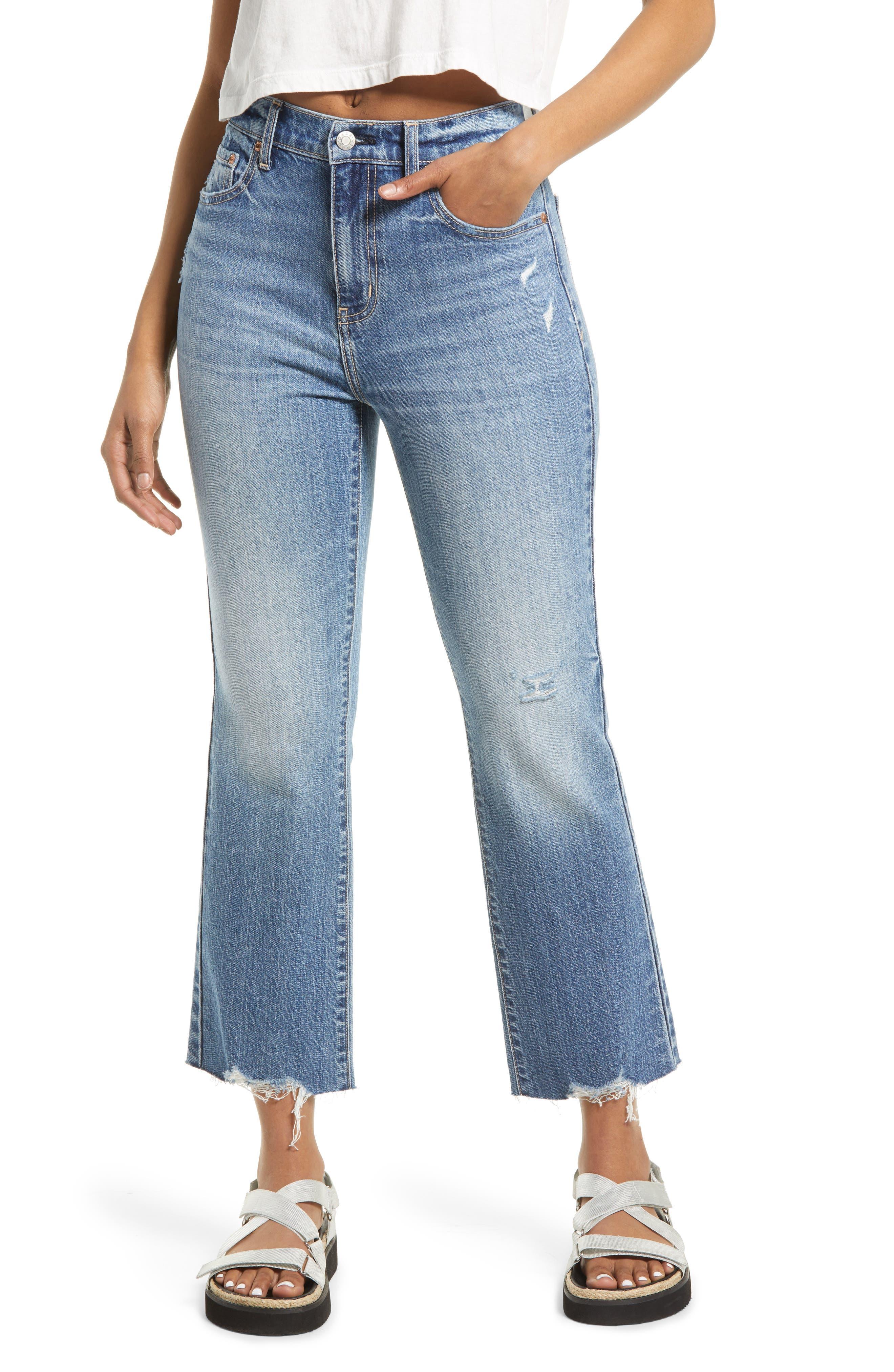 Shy Girl High Waist Crop Flare Jeans