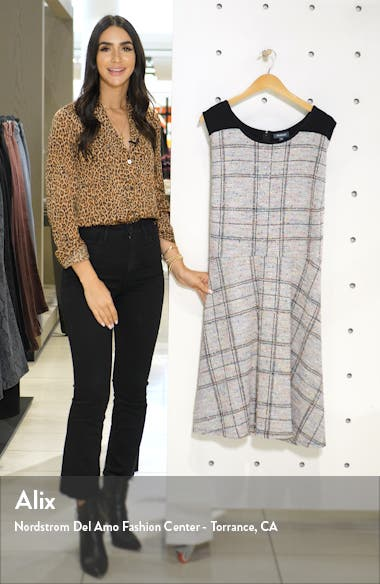 Windowpane Plaid A-Line Dress, sales video thumbnail