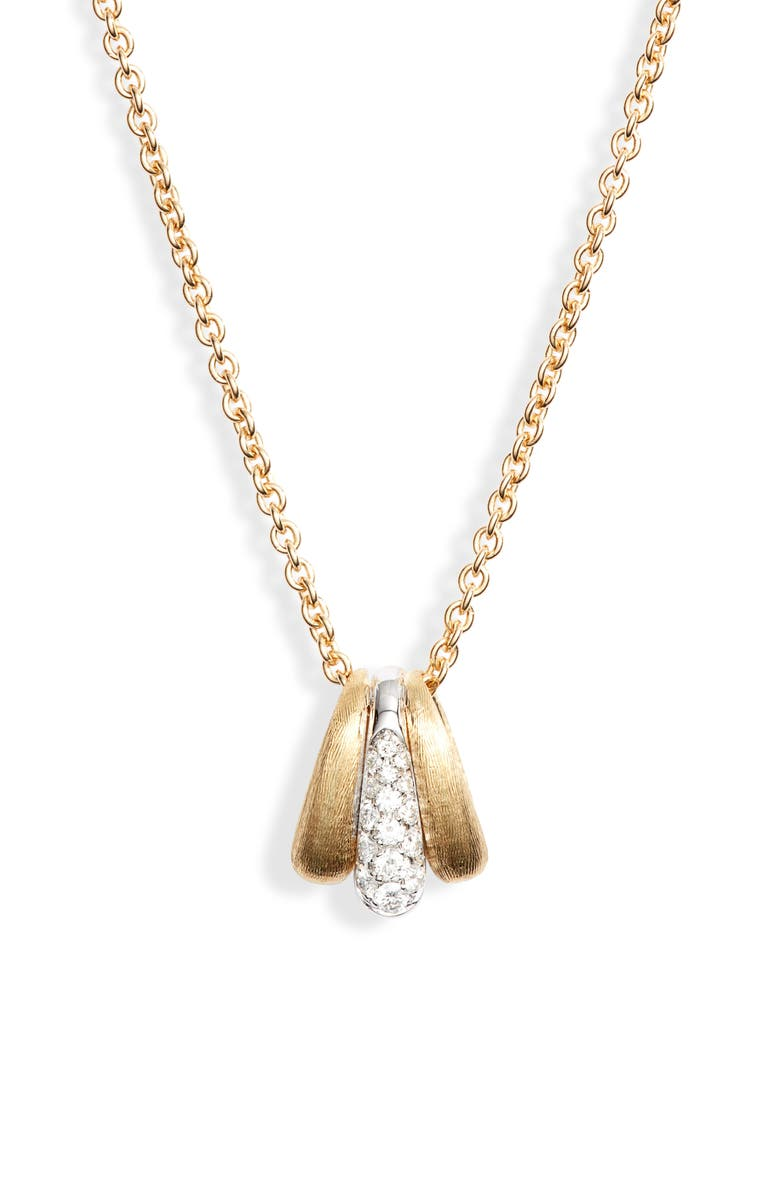 MARCO BICEGO Lucia Diamond Pendant Necklace, Main, color, YELLOW GOLD/ WHITE GOLD