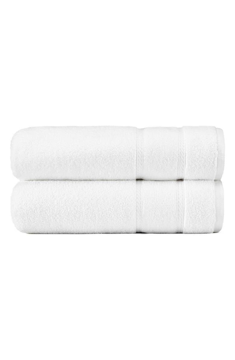 NAUTICA Belle Haven Set of 2 Bath Towels, Main, color, WHITE