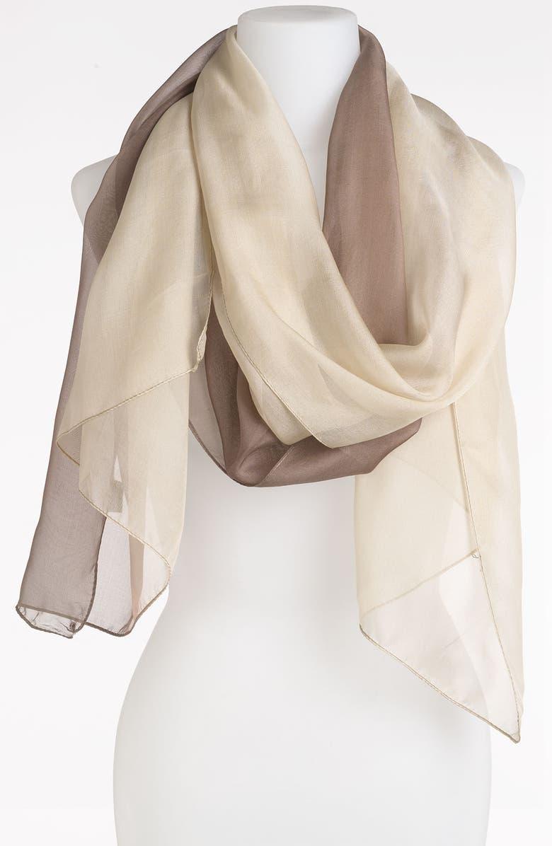 EYEFUL Ombré Silk Chiffon Scarf, Main, color, 200