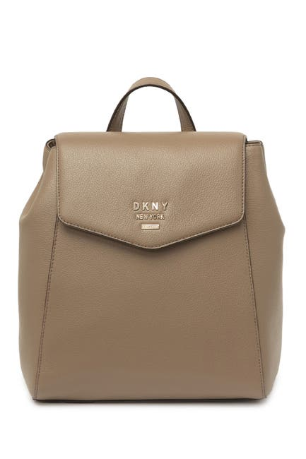 Image of DKNY Whitney Flap Leather Backpack