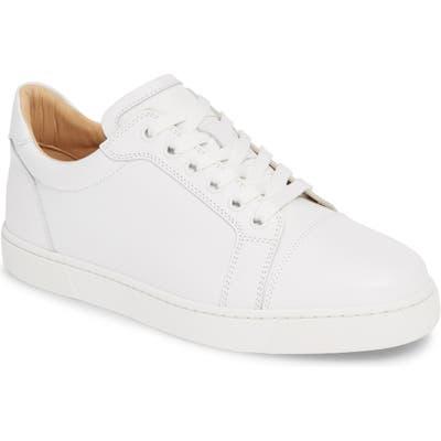 Christian Louboutin Vieira Lace-Up Sneaker - White