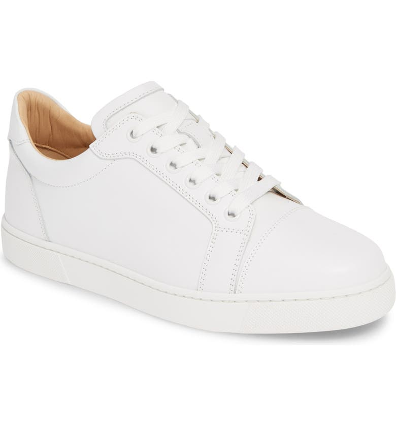 CHRISTIAN LOUBOUTIN Vieira Lace-Up Sneaker, Main, color, WHITE