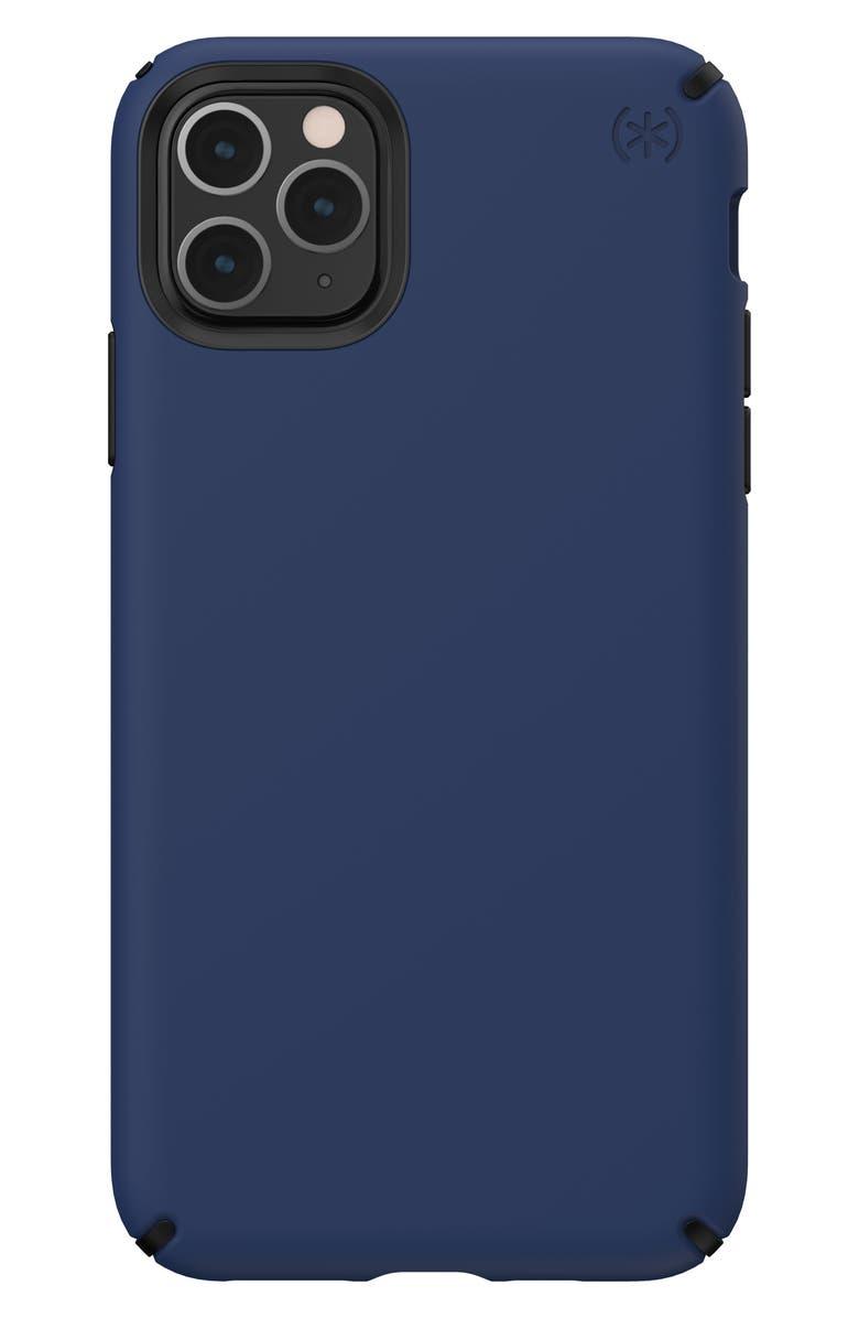 SPECK Presidio Pro iPhone 11/11 Pro & 11 Pro Max Phone Case, Main, color, COASTAL BLUE/ BLACK