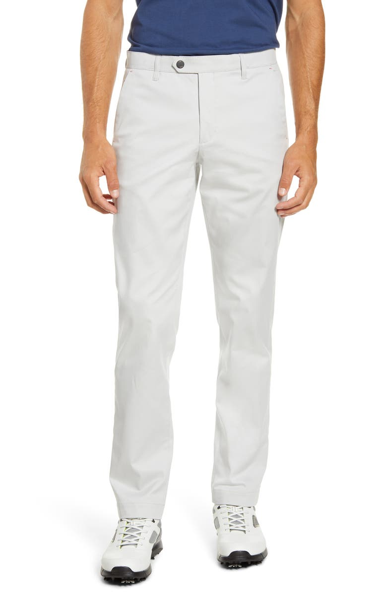 TED BAKER LONDON Slim Fit Golf Trousers, Main, color, LIGHT GREY