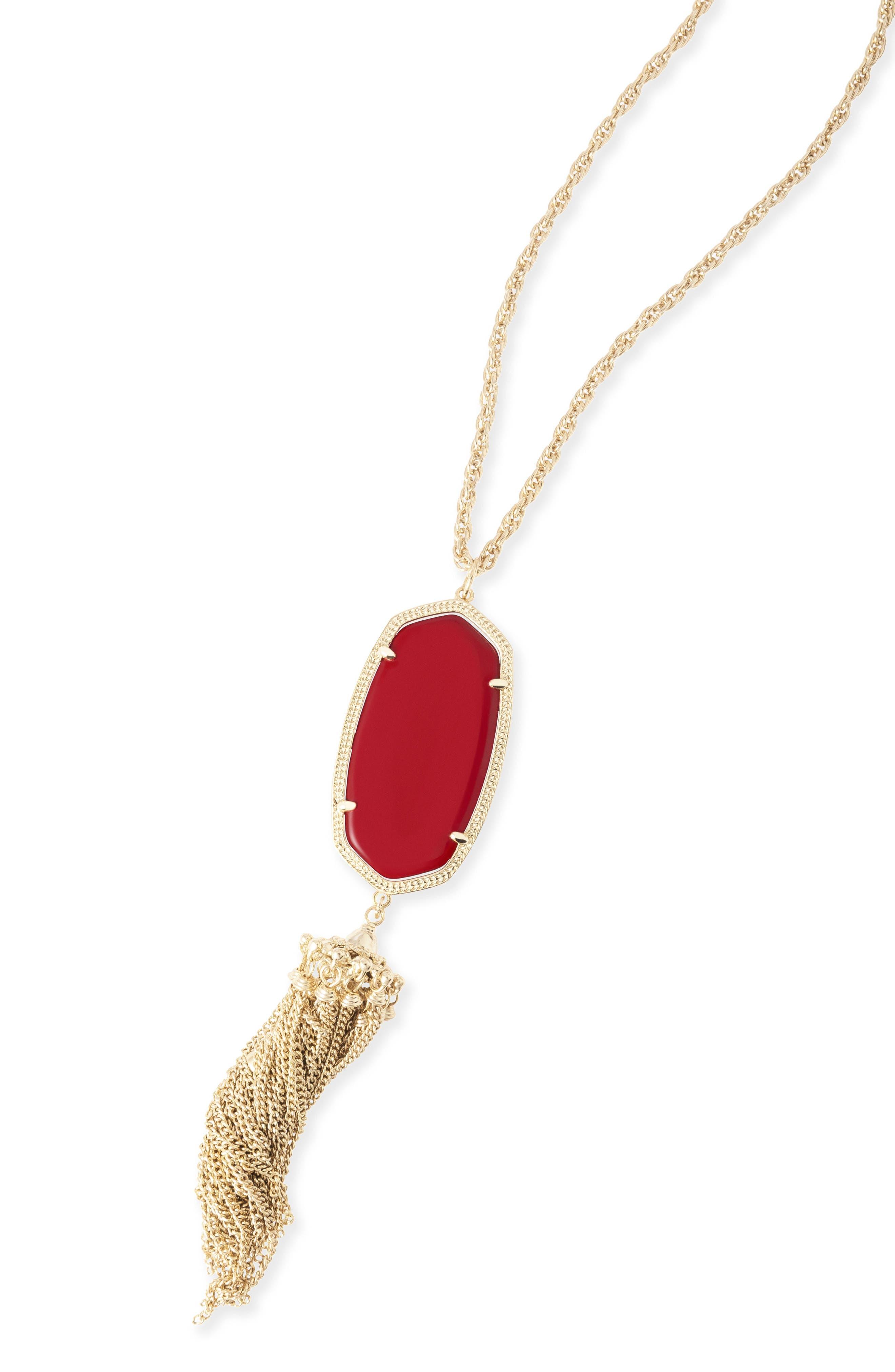 ,                             'Rayne' Tassel Pendant Necklace,                             Alternate thumbnail 10, color,                             600