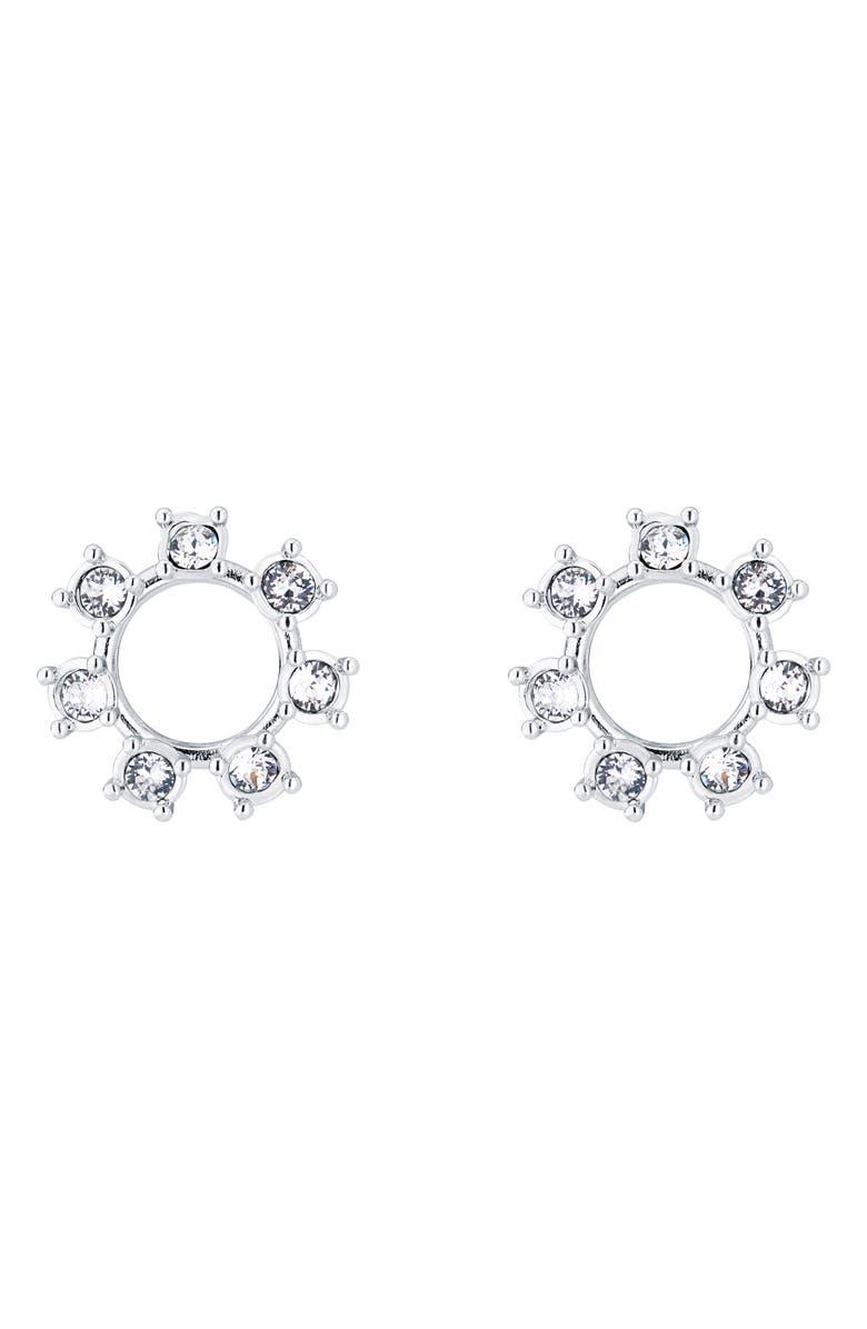 TED BAKER LONDON Ciela Crystal Clockwork Stud Earrings, Main, color, 040