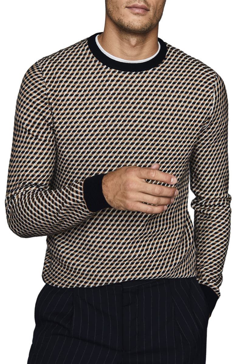 REISS Warwick Jacquard Sweater, Main, color, MULTI